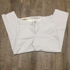 Gap gray and white pants